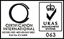 CI UKAS Quality Management - SGS ISO 9001-2008, UKAS Health & Safety - SGS BS OHSAS 18001, UKAS Environmental Management - SGS ISO 14001-2004