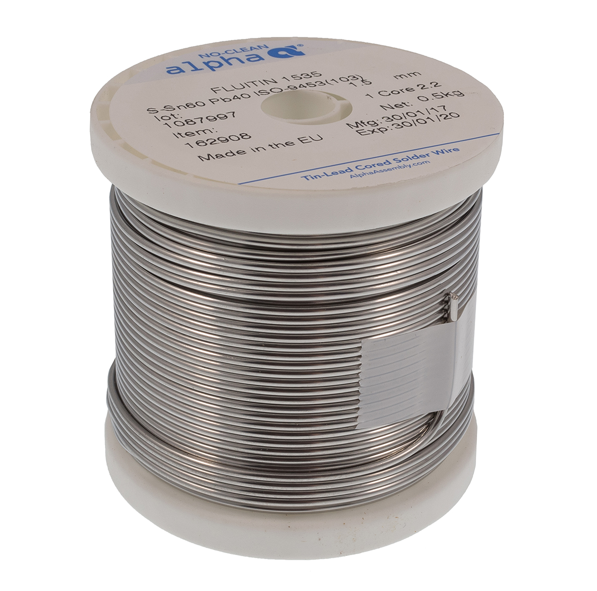 Alpha Metals Fluitin 1535 60 40 Leaded Solder Wire The